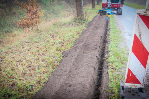 Asta Infra Tel uses MT900 Trencher combination to install fibre optics in the Netherlands & Belgium